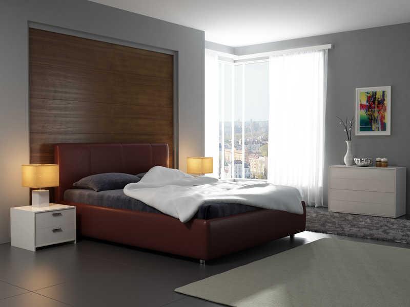 Фото двуспальная кровать в интерьере